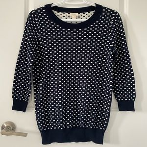 J Crew 3/4 Sleeve Crewneck Sweater